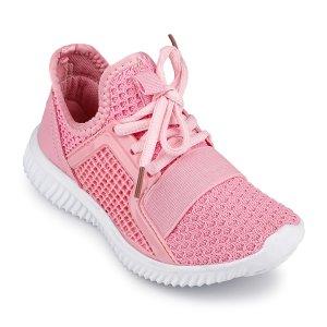 Кроссовки Розовые Текстиль - код 15025