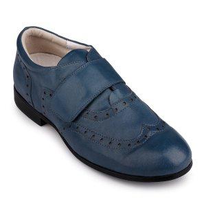 Туфли Голубые Кожа - код 16229