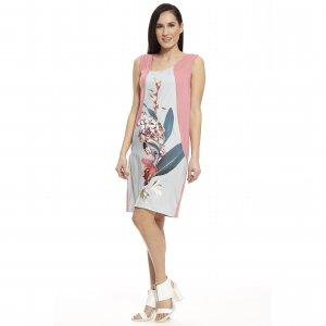 женское платье комбинированное с шелком - код 16286