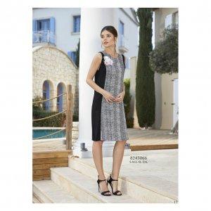 женское штапельное платье без рукавов - код 17185