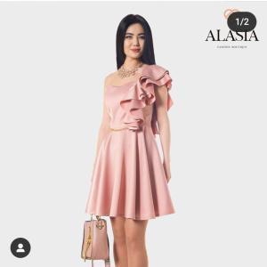 Платье атлас