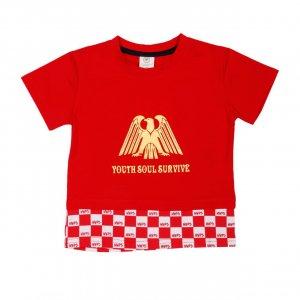 Футболка Красная ХБ - код 24776