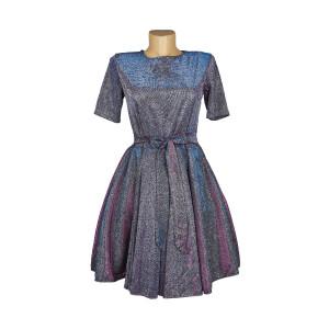 Платье Синее Синтетика Турция - код 26221