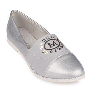 Туфли Серебрянные Экокожа - код 26803