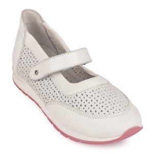 Туфли Белые Кожа - код 26813