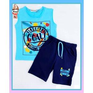 Комплект для мальчиков футболка+шорты - код 27118