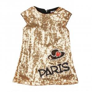 Платье Золото Пайетки Турция - код 27136