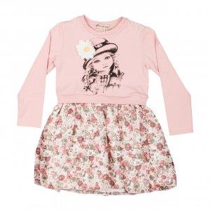 Платье Розовое ХБ Турция - код 27141