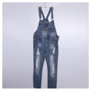 Комбинезон джинсовый - код 27427