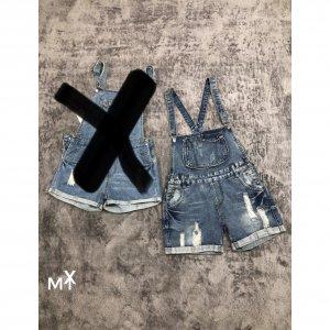 Комбинезон джинсовый - код 27430