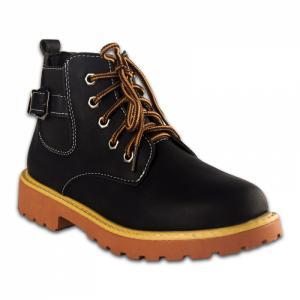 Ботинки Черные Экокожа