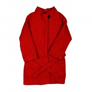 Zimnee palto krasnoe  sherst turtsiya - код 27976