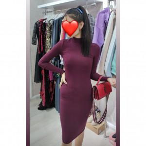 Бордовое платье - код 30990