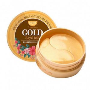 Gidro gelevie patchi s zolotom i matochnim molochkom petitfee koelf gold  royal jelly eye patch - код 34156