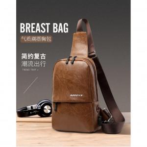 Мужская Кожанная сумка Кросс-боди через плечо - код 34874