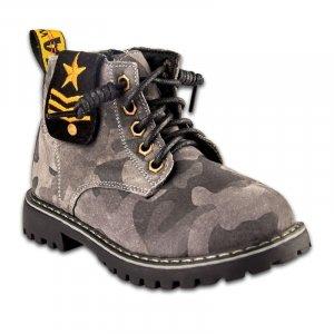 Ботинки Серые Нубук - код 6747