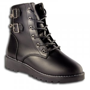 Ботинки Черные Экокожа - код 6752