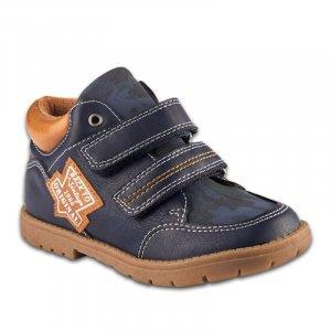 Ботинки Синие Экокожа - код 6757