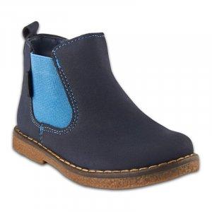 Ботинки Синие Нубук - код 6880
