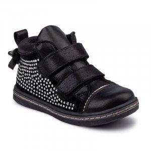 Ботинки Черные Замш
